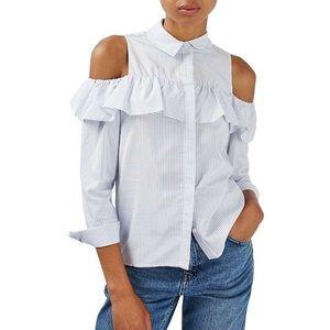Topshop cold shoulder blouse